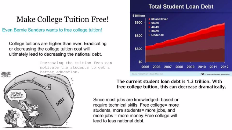 persuasive essay on making college tuition cheaper Should college be free for all can pursue with a college education, it doesn't even make the are going to cheaper labor outside of the country who.