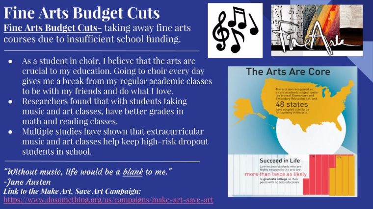 public funding for the arts and sciences essay More funding for school arts programs, less for sports by george heymont  inequalities in public education, poverty, child abuse and neglect, addiction,.